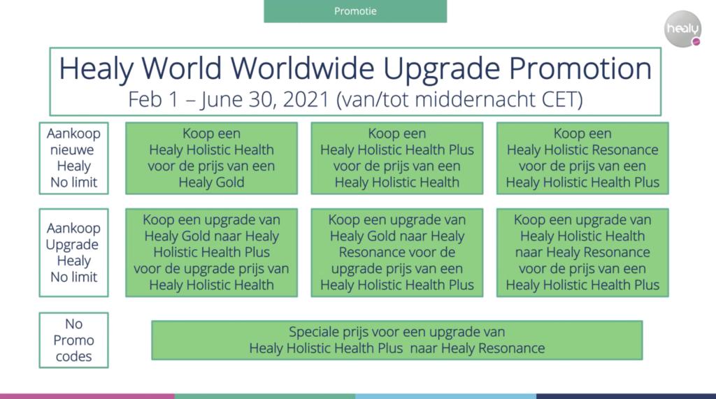 Healy upgrade promotie tm 30 juni